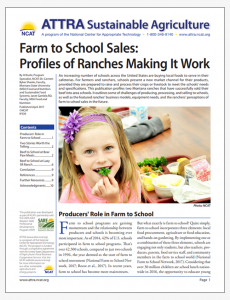 Farm to School Sales: Profiles of Ranches Making It Work