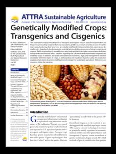 GENETICALLY MODIFIED CROPS: TRANSGENICS AND CISGENICS