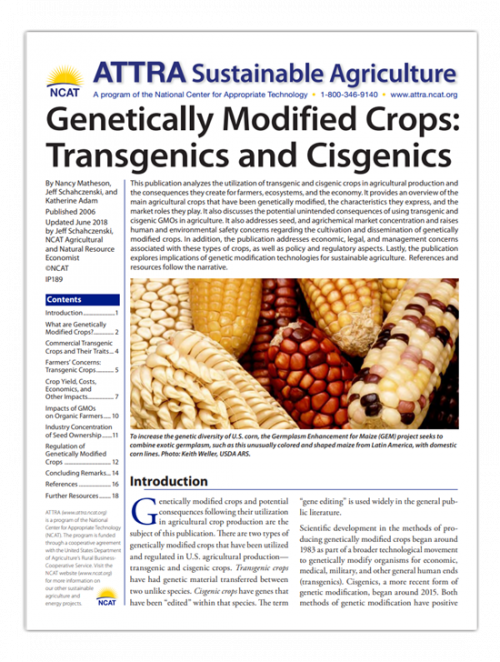 GENETICALLY MODIFIED CROPS: TRANSGENICS AND CISGENICS