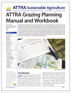 ATTRA Grazing Planning Manual and Workbook