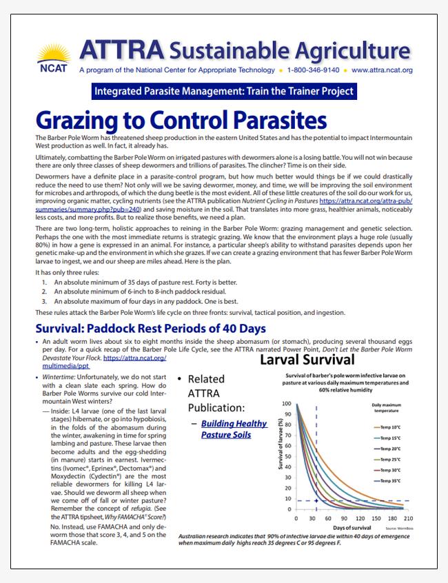 Grazing to Control Parasites