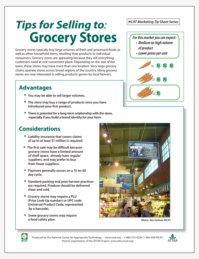 Tips for Selling to Grocery Stores