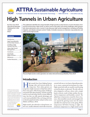 High Tunnels in Urban Agriculture