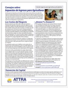 Consejos sobre: Impuestos de Ingresos para Agricultores