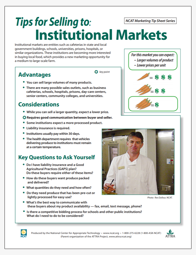 Tips for Selling to Institutional Markets