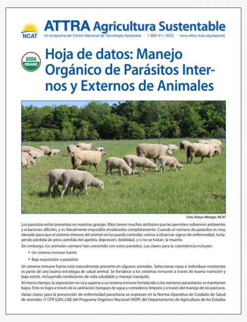 Hoja de Datos: Manejo Organico de Parasitos Internos y Externos de Animales