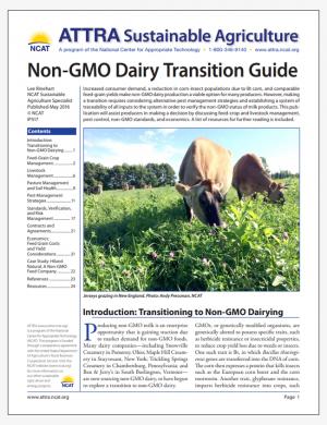 Non-GMO Dairy Transition Guide
