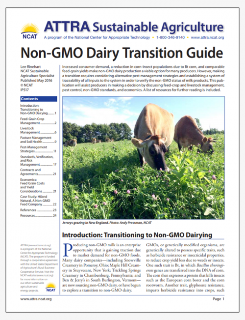 Non-GMO Dairy Transition Guide