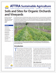 Soils and Sites for Organic Orchards and Vineyards