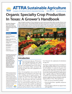 Organic Specialty Crop Production In Texas: A Grower's Handbook