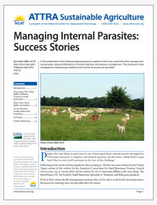 Managing Internal Parasites: Success Stories