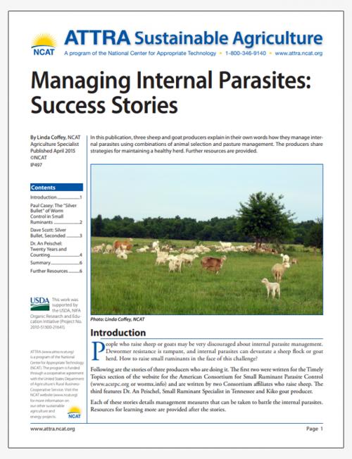 Managing Internal Parasites: Success Stories