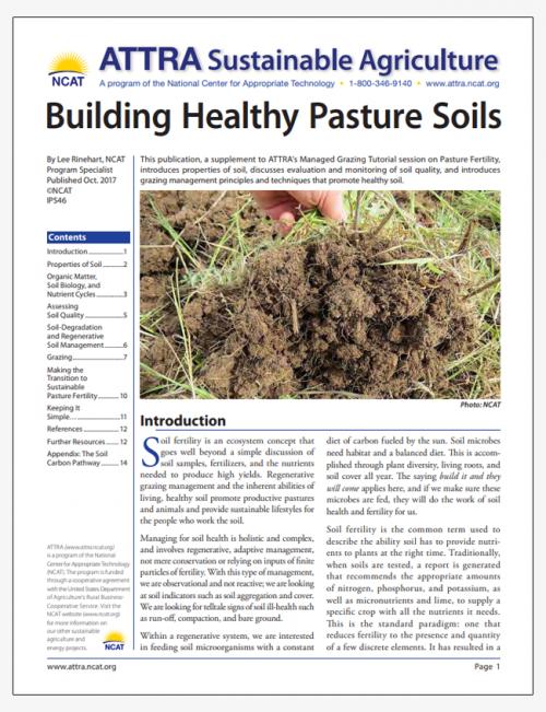 Building Healthy Pasture Soils