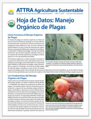 Hoja de Datos: Manego Organico de Plagas