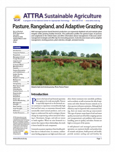 Pasture, Rangeland, and Adaptive Grazing