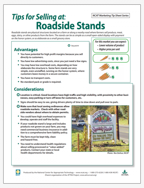 Tips for Selling at Roadside Stands