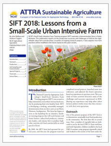 SIFT 2018: Lessons from a Small-Scale Urban Intensive Farm
