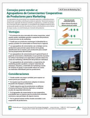 Consejos para vender a Agrupadores de Comerciantes/Cooperativas de Productores para Marketing