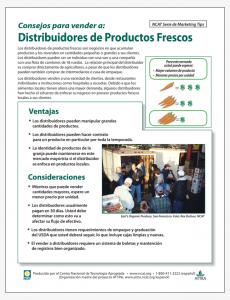 Consejos para vender a Distribuidores de Productos Frescos