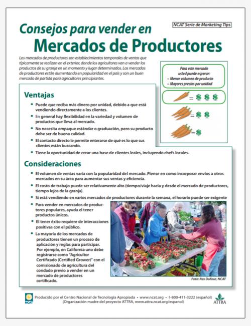 Consejos para vender en Mercados de Productores