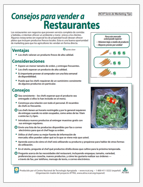 Consejos para vender a Restaurantes