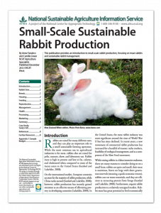 Sustainable Rabbit Production