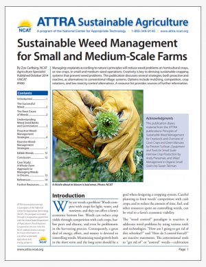 Sustainable Weed Management for Small and Medium-Scale Farms