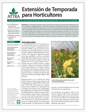 Extensión de Temporada para Horticultoresn