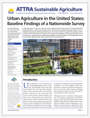 Urban Agriculture in the United States: Baseline Findings of a Nationwide Survey