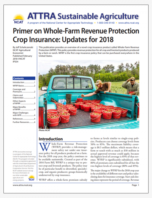 Primer on Whole-Farm Revenue Protection Crop Insurance: Updates for 2018