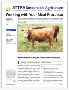 Working with Your Meat Processor