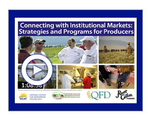 Connecting with Institutional Markets Strategies and Programs for Producers