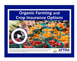 Organic Farming and Crop Insurance Options