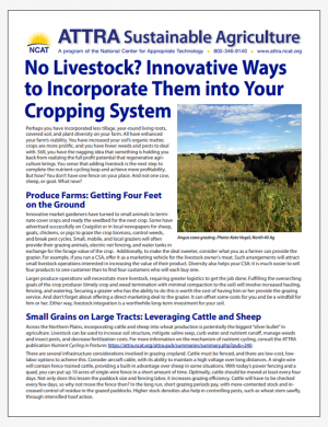 No Livestock? Innovative Ways to Incorporate them into Your Cropping System