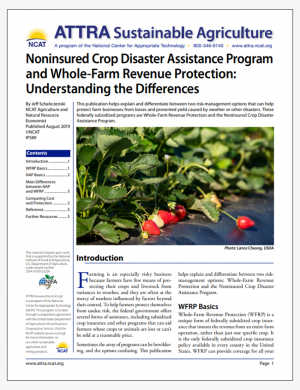 Noninsured Crop Disaster Assistance Program and Whole-Farm Revenue Protection: Understanding the Differences