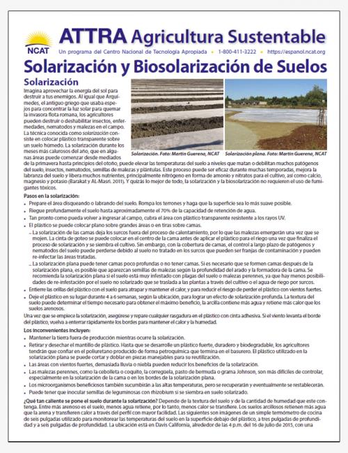 Solarización y Biosolarización de Suelos