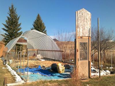 A hoophouse