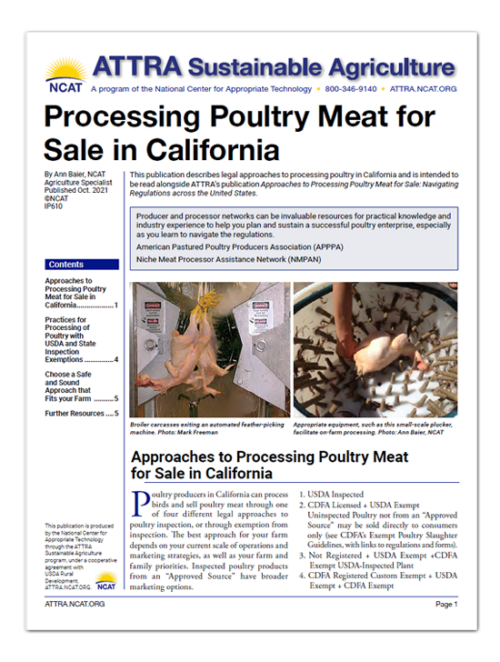 IP610 poultry processing cover art