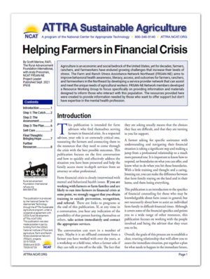 Helping Farmers in Financial Crisis