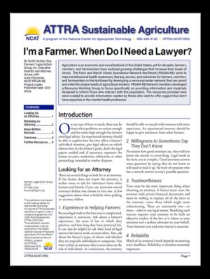 I'm a Farmer. When Do I need a Lawyer?